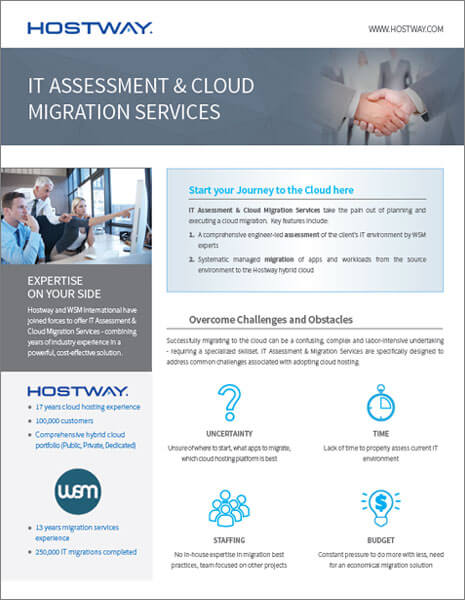 Hostway: Brochure – Cloud Migration