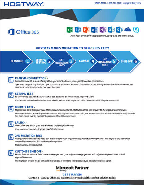 Hostway: Brochure – Office 365 Migration
