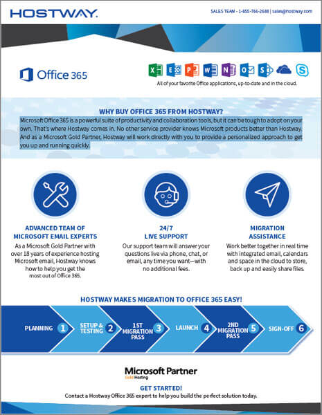 Hostway Brochure: Office365 Overview