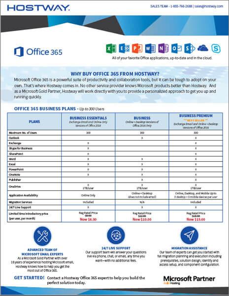 Brochure-Office 365 Pricing » Hostway