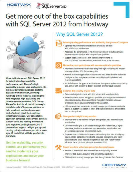 Brochure - Hostway SQL Server Solutions