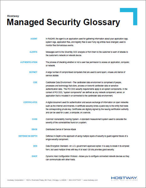 Glossary - Managed Security