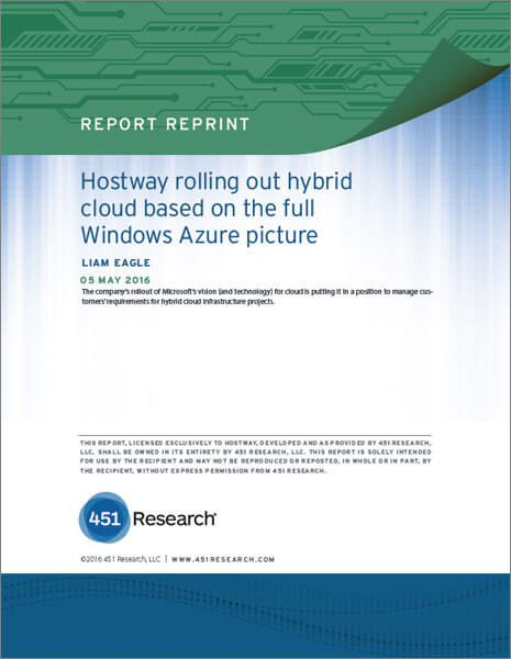 White Paper - 451 Report on Hostway Rolling Out Hybrid Cloud
