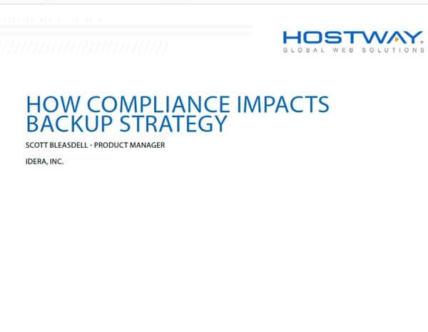 White Paper - How Compliance Impacts Backup Strategy
